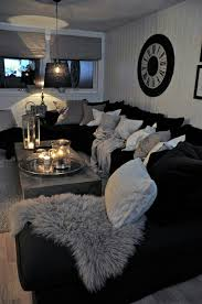 Bed And Living Black And White Living Room Interior Design Ideas Budgeting