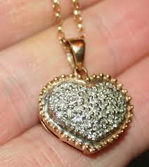 ebay necklace heart images 58 diamond pendant necklace uk si1 g cluster pendant necklace jpg
