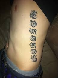 rib tattoo last name tattoos pinterest tattoo and tatoo