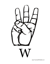 sign language with w