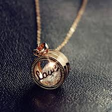 womens necklace pendants images Sweet rose gold love letter women 39 s necklace jpg