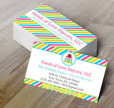 childcare business cards microsoft word childcare or daycare business card template my