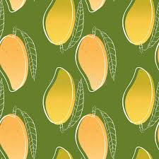 tropical wrapping paper vector tropical seamless pattern with mango on green background