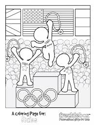 free personalized olympic coloring sheet olympics children s