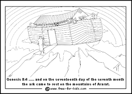 noah u0027s ark colouring pictures