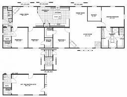 2 Bedroom Manufactured Home 4 Bedroom Floor Plan B 6012 Hawks Homes Manufactured 3 Mobile Home