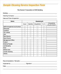 cleaning report template sle cleaning inspection report professional and high quality