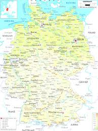 Autobahn Germany Map by Large Detailed Physical Map Of Germany With All Cities Roads And