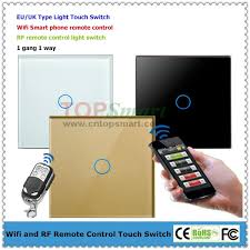 wifi controlled light switch 1 gang smart phone app wifi remote control or rf remote control