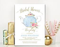 tea party bridal shower invitations bridal shower tea etsy