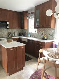 ikea adel medium brown kitchen cabinets kitchen rev two toned modern kitchen place of my taste