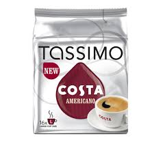 americano buy tassimo costa americano t discs pack of 16 free delivery