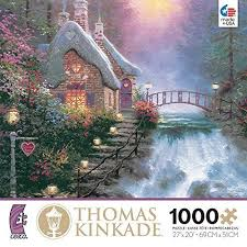 kinkade cottage puzzles jigsaw puzzles for adults