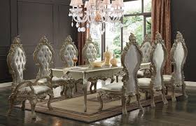gold dining table set hd 13012 champagne gold dining table set 6 chairs alpha omega