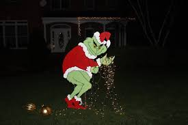 grinch stealing christmas lights stealing christmas lights yard christmas