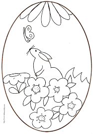 coloriage de lapins de pâques coloriage lapin pour paques l