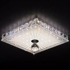 online shop square crystal ceiling lights balcony hallway lighting