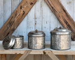 metal canisters kitchen galvanized tin canisters primitive treasures pinterest