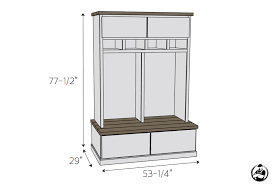 Laundry Bench Height Mudroom Lockers With Bench Free Diy Plans