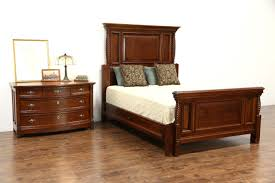 Antique Bed Sets Sold Size 2 Pc Carved Cherry Mahogany 1890 Antique