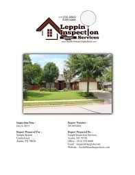 house inspection report sample sample report simplebooklet com inspection date july 6 2015 report number 2015070202 report prepared for sample report undisclosed austin