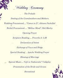 Wedding Ceremony Program Ideas Wedding Ceremony Vows Wedding Vows Wedding Ideas And Inspirations