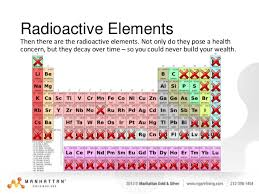 radioactive elements on the periodic table why is gold a store of value