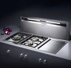 Electric Cooktop With Downdraft Ventilation Gaggenau Al400790 Downdraft Ventilation System With Optional