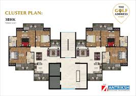 the antriksh golf address breathtaking floor plan