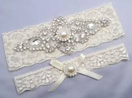 wedding garters ivory bridal garter set rhinestone pearl keepsake toss