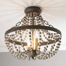 Country French Chandelier by Rustic French Country Beaded Pendant Shades Of Light