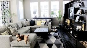 black and white living room home art interior