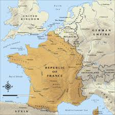 France World Map France Map During Ww1