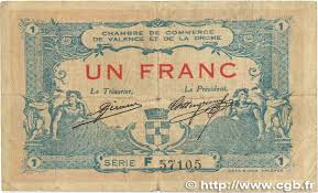 chambre du commerce valence 1 franc regionalism and miscellaneous valence 1915 jp 127 07
