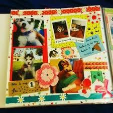 dog scrapbook album it s playtime dog puppy scrapbook album pet lifebook
