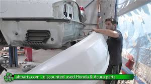 nissan acura 2003 how to replace change a rear bumper 1999 2000 2001 2002 2003