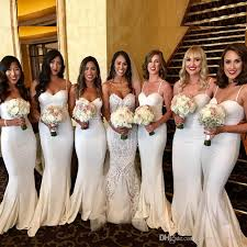 bridesmaid dress ivory mermaid bridesmaids dresses sweetheart spaghetti