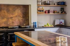 kitchen island worktops brass u0026 copper worktops pros u0026 cons sustainable kitchens