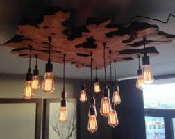Wire Chandeliers Create Your Own Custom Small Medium Live Edge By 7mwoodworking