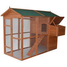 pawhut delue large backyard chicken coop hen house with outdoor