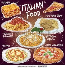 popular cuisine vector illustration popular stock vector