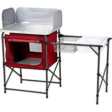 outdoor cooking prep table portable fold up deluxe cing kitchen outdoor cooking prep table