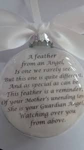 in memory ornament of loved one a feather door shopcreativecanvas