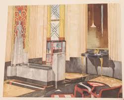Modern Art Deco Bathrooms by 1931 Art Deco Bathroom Interior Design Architecture Reference Book