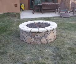 Easy Fire Pits by Round Stone Fire Pit Crafts Home