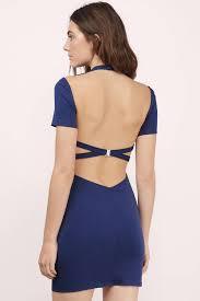 blue dress black dress open back dress cross dress bodycon