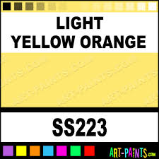 Light Orange Color by Light Yellow Orange Softees Ceramic Porcelain Paints Ss223