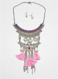 long necklace accessories images Sweet traditional pink lady long necklace vs accessories malaysia JPG
