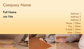 business card templates flooring