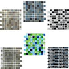 green bathroom tile stickers design ideas self adhesive mosaic